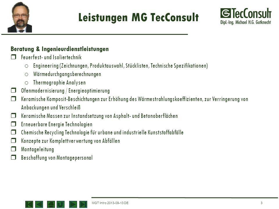 Leistungen MG TecConsult