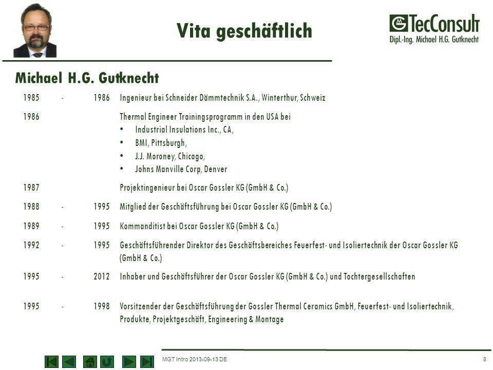 Vita geschäftlich Michael H.G. Gutknecht 1985 - 1986