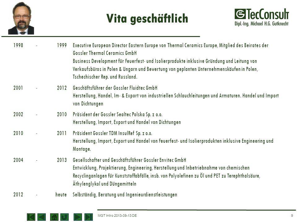 Vita geschäftlich 1998. - 1999.