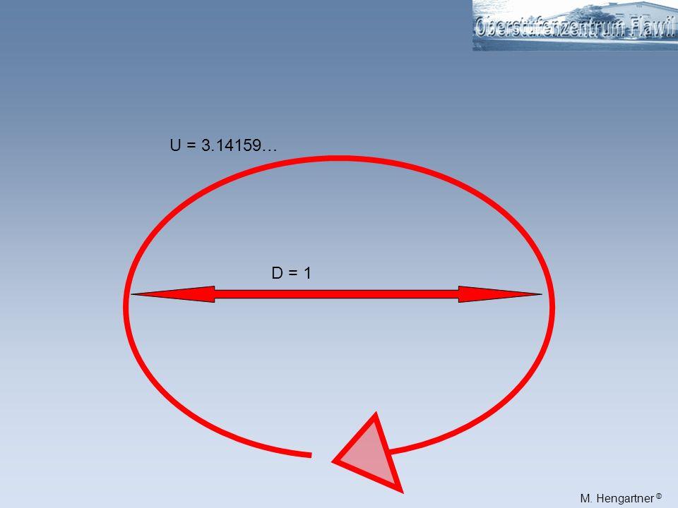 U = 3.14159… D = 1