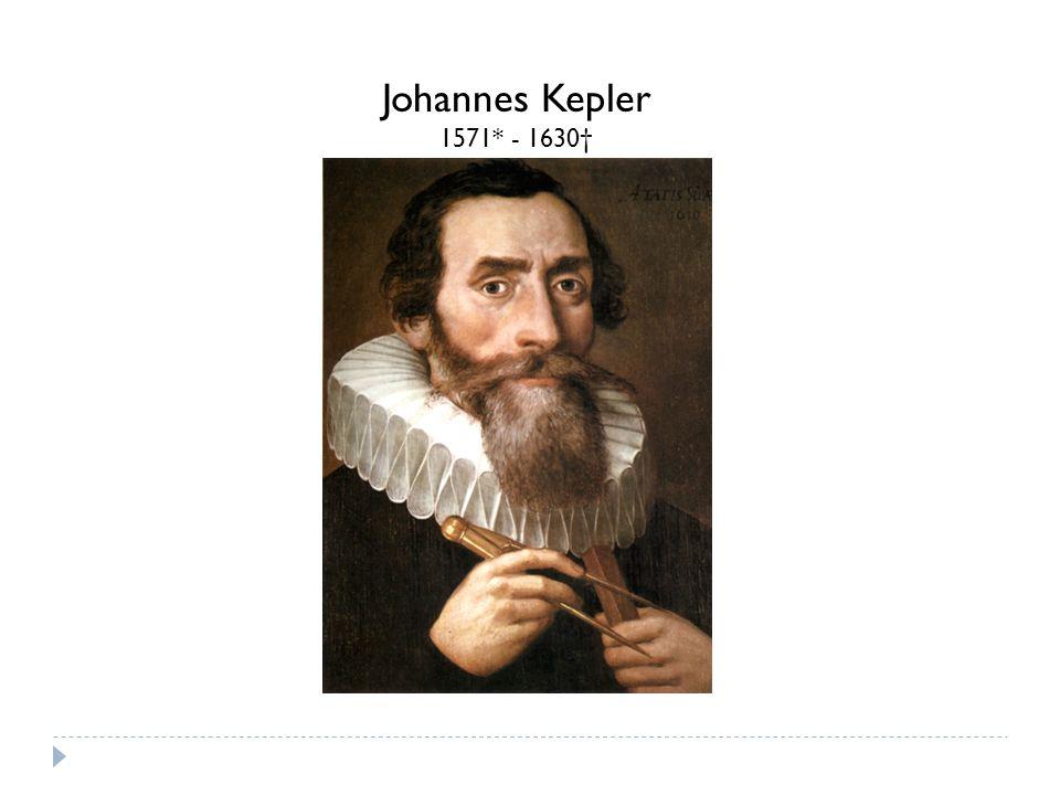 Johannes Kepler 1571* - 1630†
