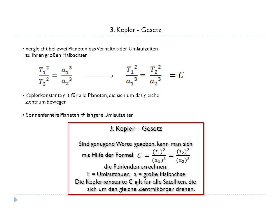 3. Kepler - Gesetz 3. Kepler – Gesetz