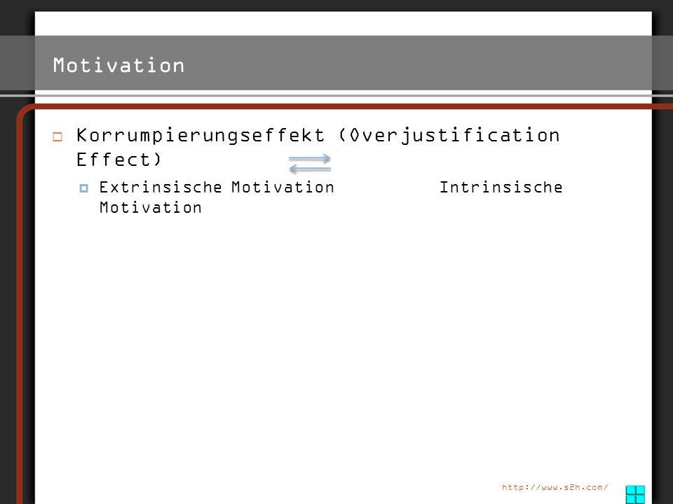 Motivation Korrumpierungseffekt (Overjustification Effect)