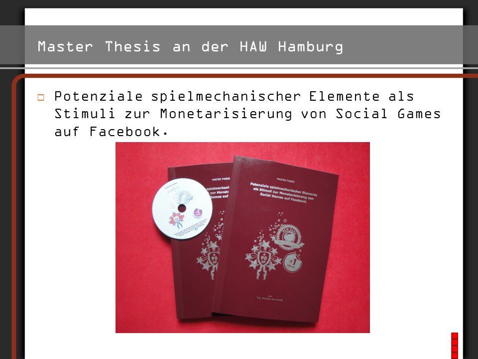 Master Thesis an der HAW Hamburg
