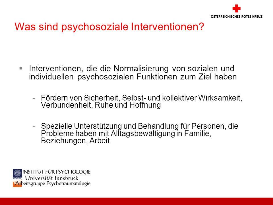 Was sind psychosoziale Interventionen