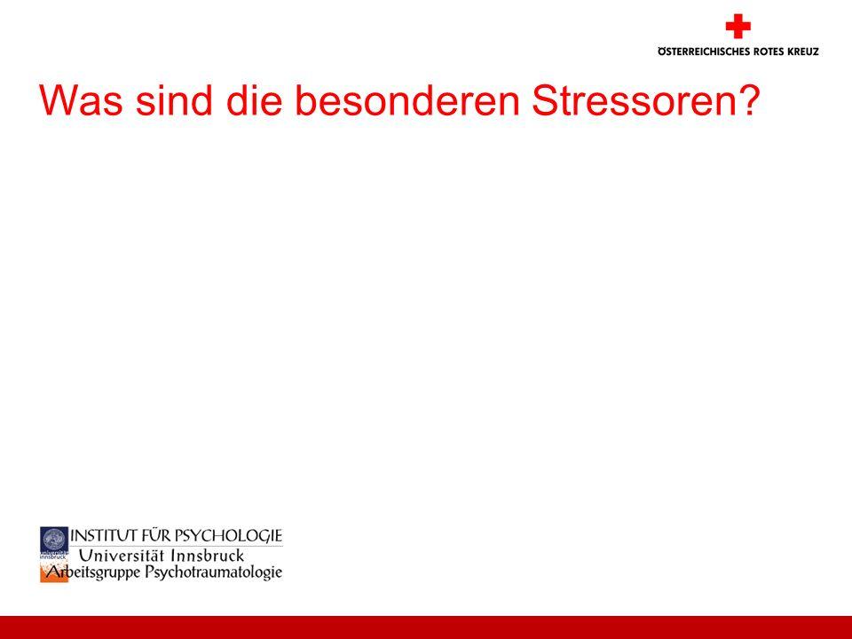 Was sind die besonderen Stressoren