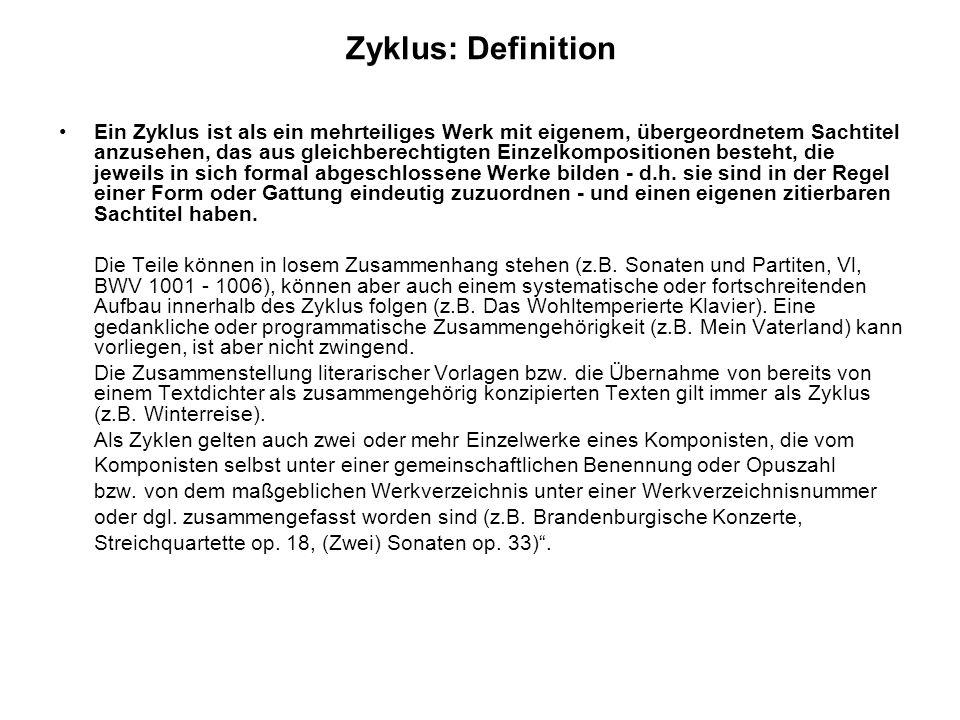 Zyklus: Definition