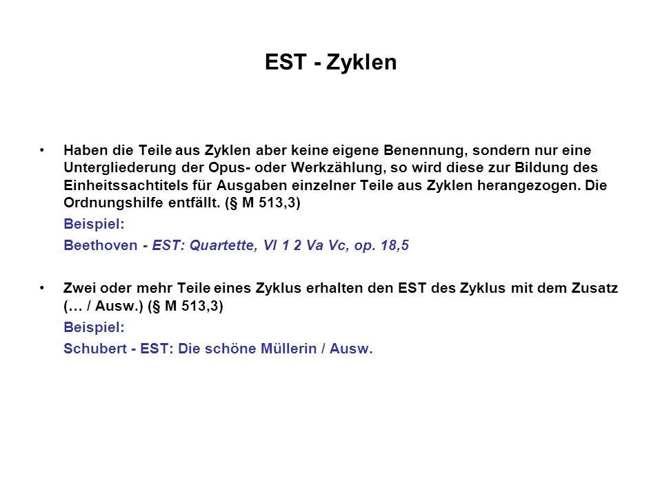 EST - Zyklen