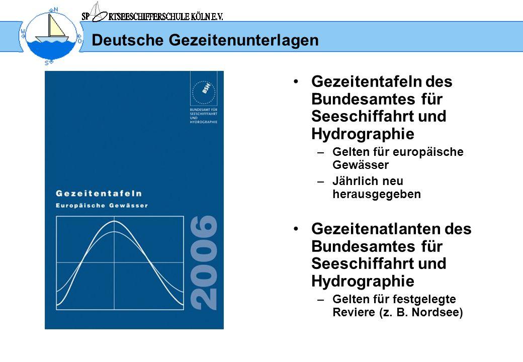 Deutsche Gezeitenunterlagen
