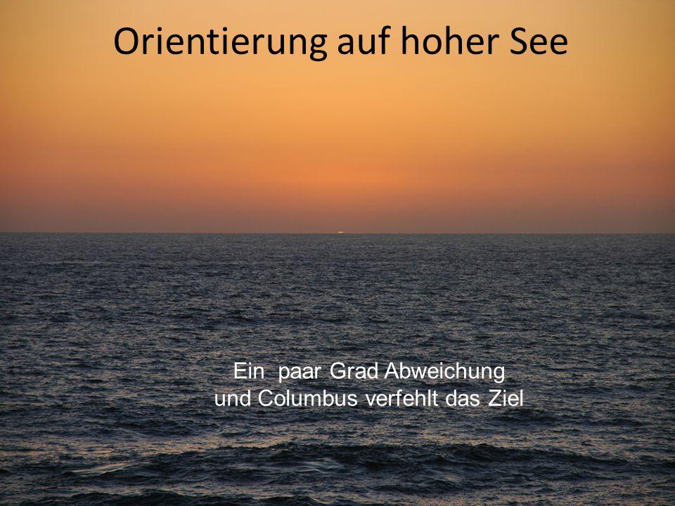 Orientierung auf hoher See