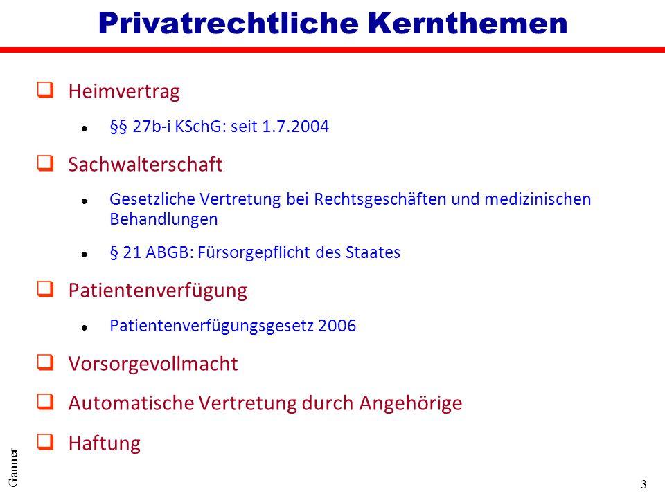 Privatrechtliche Kernthemen