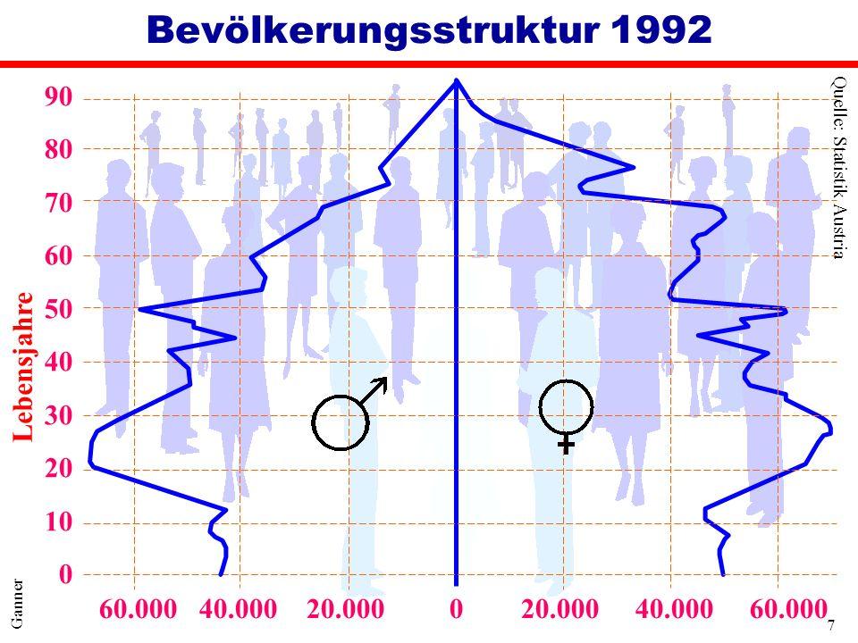 Bevölkerungsstruktur 1992