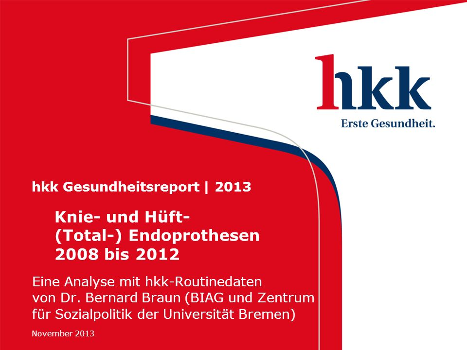 hkk Gesundheitsreport | 2013
