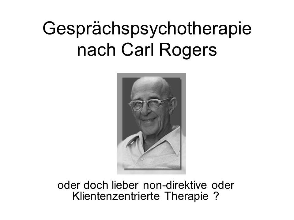 Gesprächspsychotherapie nach Carl Rogers