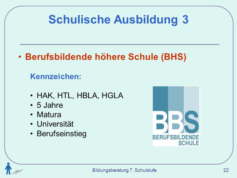 Schulische Ausbildung 3