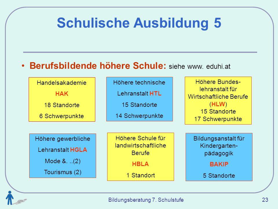 Schulische Ausbildung 5
