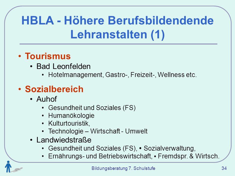 HBLA - Höhere Berufsbildendende Lehranstalten (1)