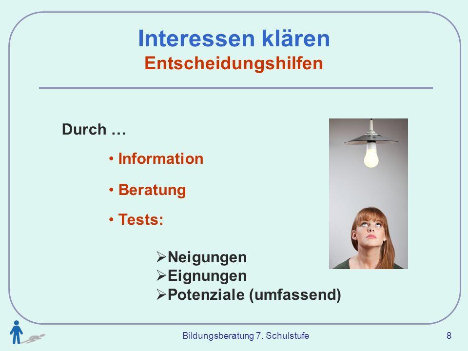 interessen finden test