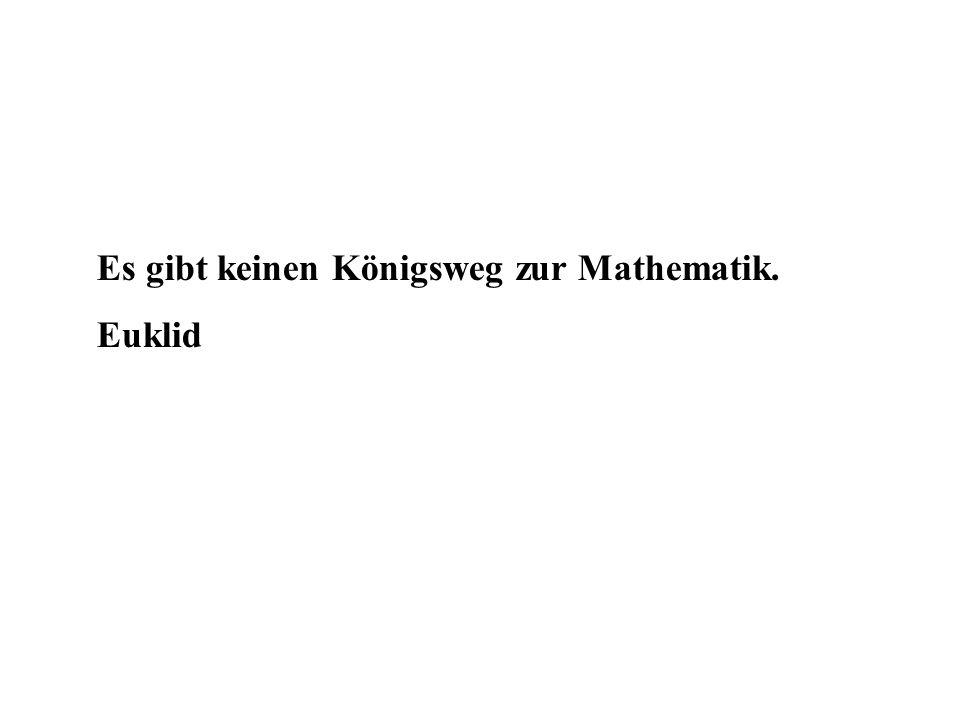 Es gibt keinen Königsweg zur Mathematik.