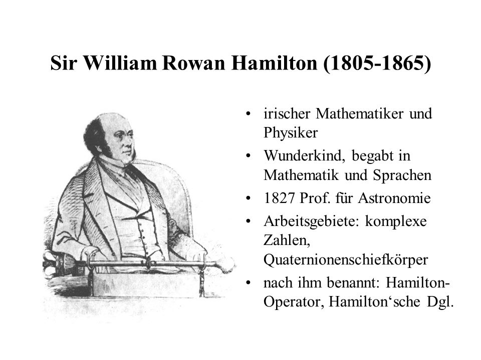 Sir William Rowan Hamilton ( )