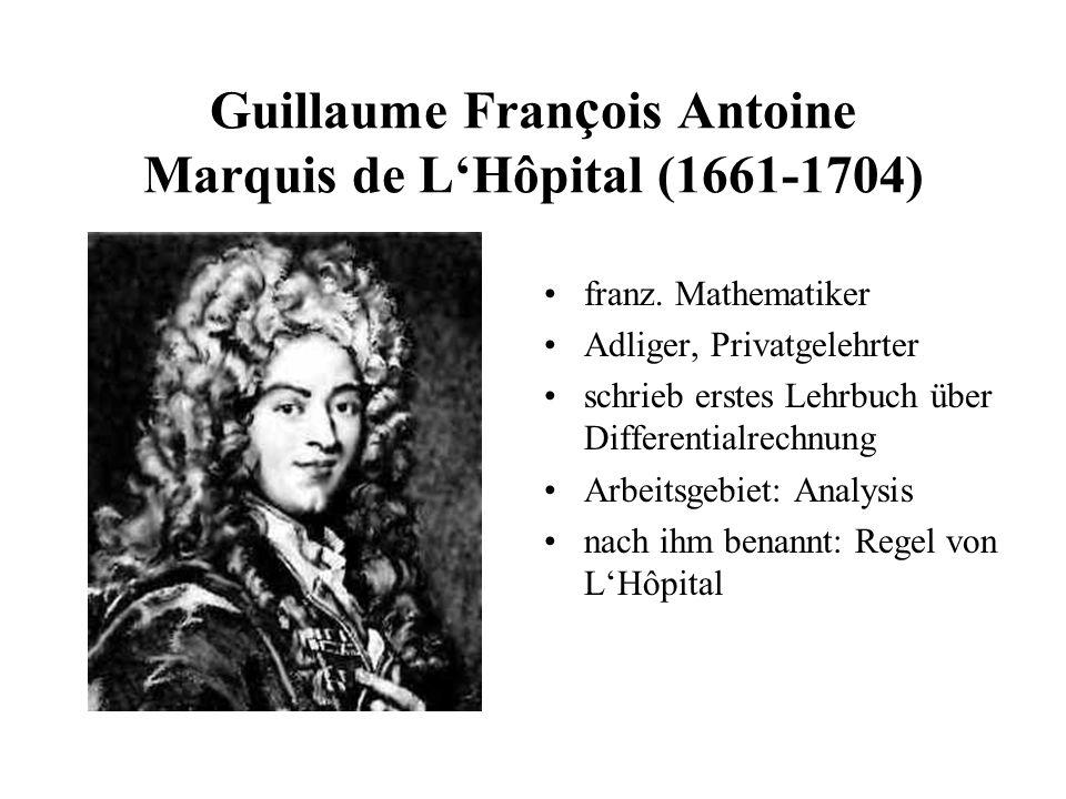 Guillaume François Antoine Marquis de L'Hôpital (1661-1704)
