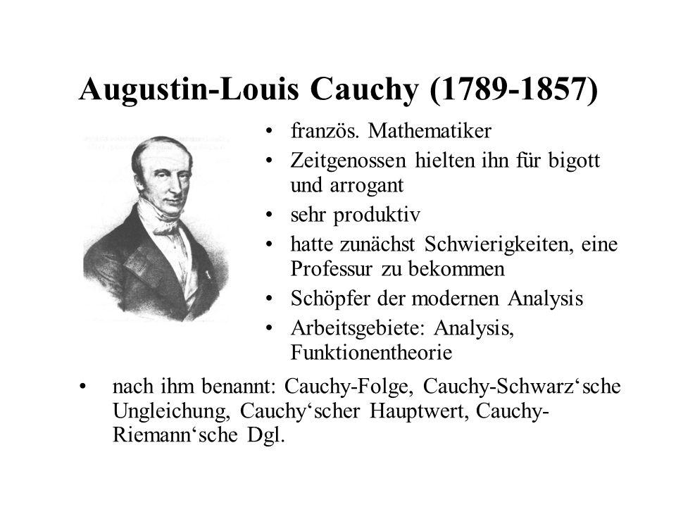 Augustin-Louis Cauchy (1789-1857)