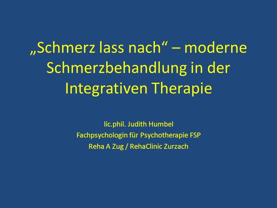 """Schmerz lass nach – moderne Schmerzbehandlung in der Integrativen Therapie"