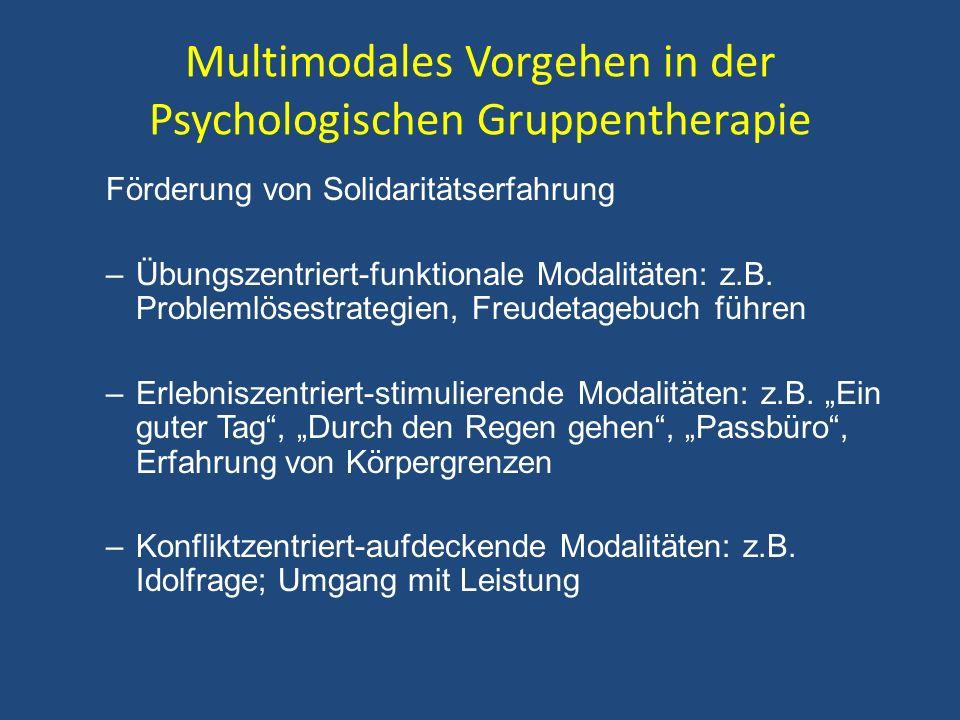 Multimodales Vorgehen in der Psychologischen Gruppentherapie
