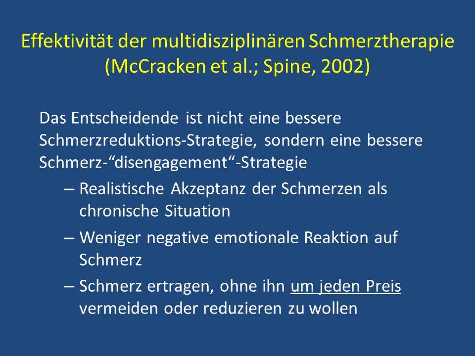 Effektivität der multidisziplinären Schmerztherapie (McCracken et al