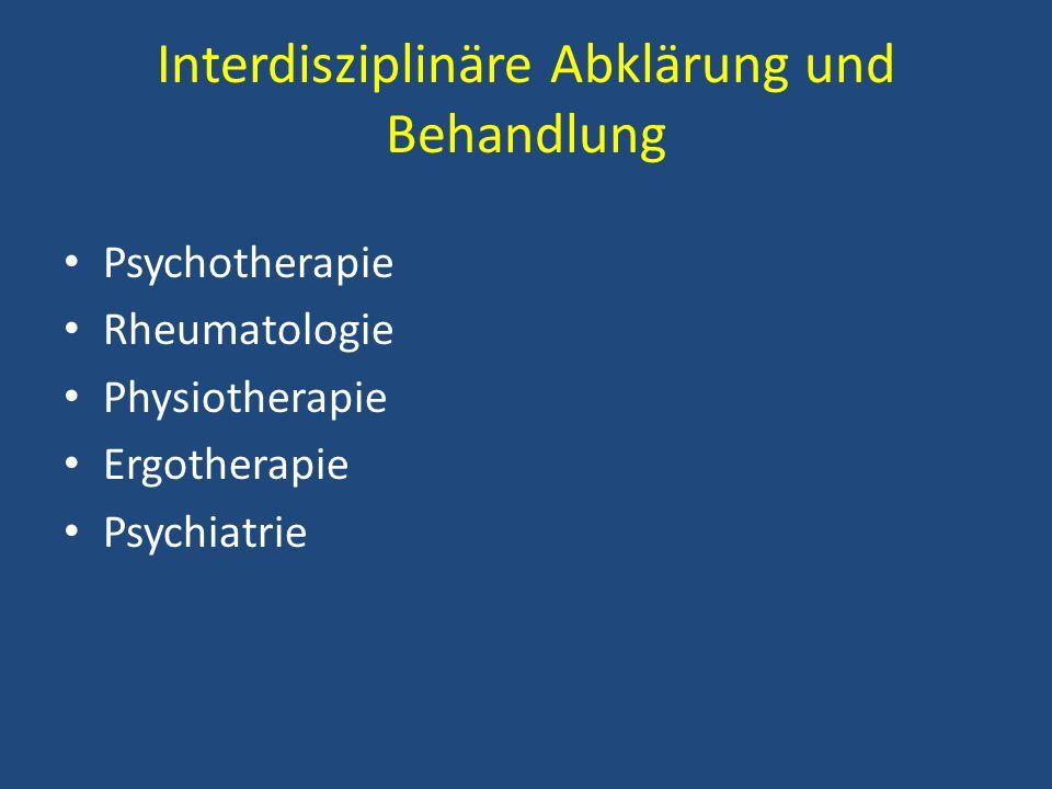 Interdisziplinäre Abklärung und Behandlung
