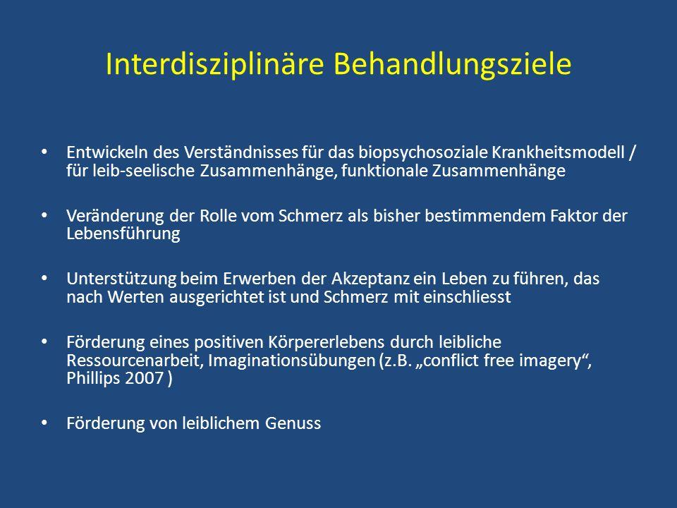 Interdisziplinäre Behandlungsziele