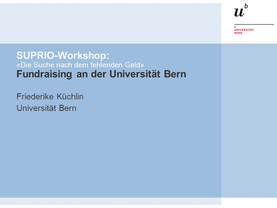 Friederike Küchlin Universität Bern