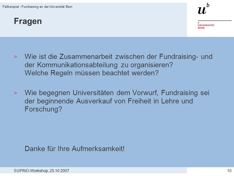 Fallbeispiel - Fundraising an der Universität Bern