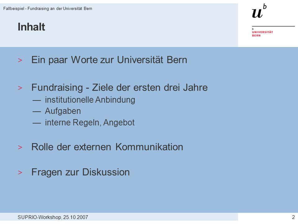 Inhalt Ein paar Worte zur Universität Bern