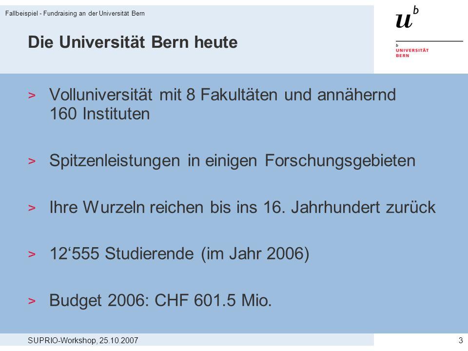 Die Universität Bern heute