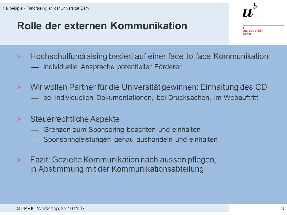 Rolle der externen Kommunikation
