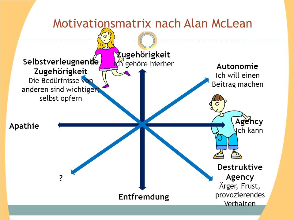 Motivationsmatrix nach Alan McLean