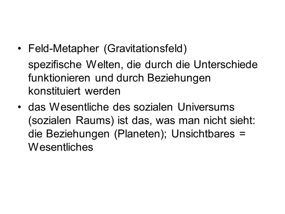 Feld-Metapher (Gravitationsfeld)