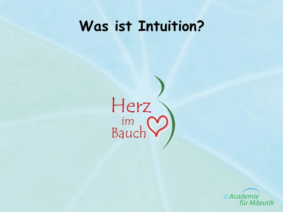 Was ist Intuition