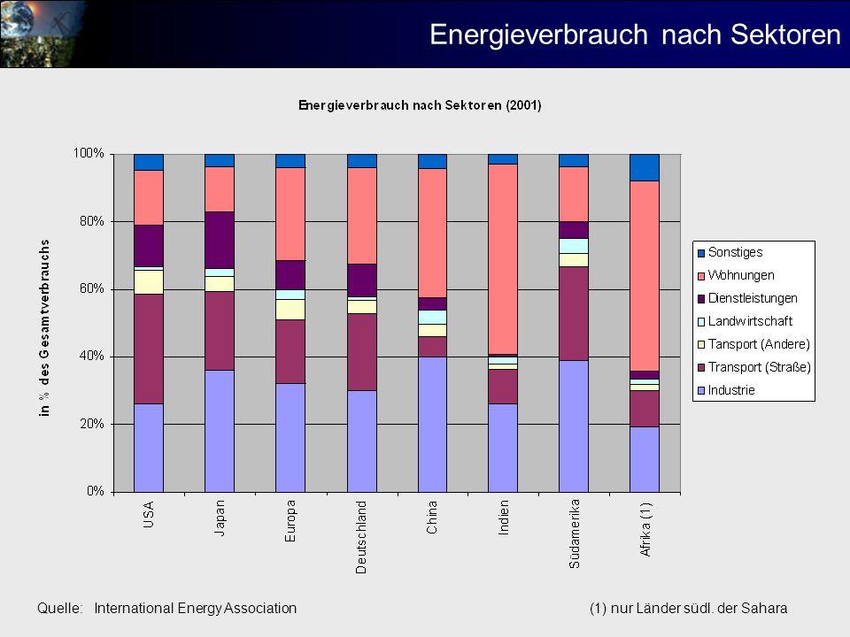 Energieverbrauch nach Sektoren