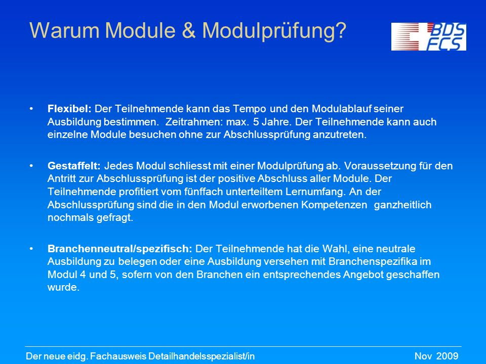 Warum Module & Modulprüfung