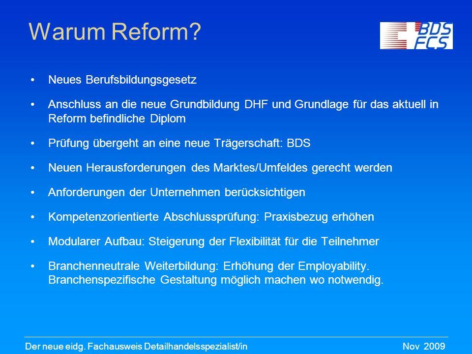 Warum Reform Neues Berufsbildungsgesetz