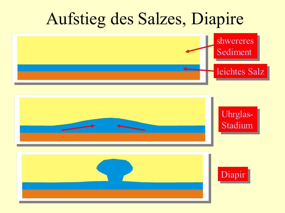 Aufstieg des Salzes, Diapire