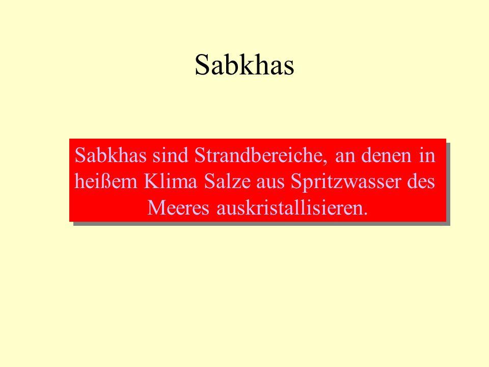Sabkhas Sabkhas sind Strandbereiche, an denen in