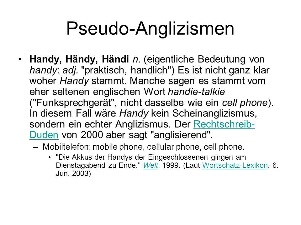 Pseudo-Anglizismen