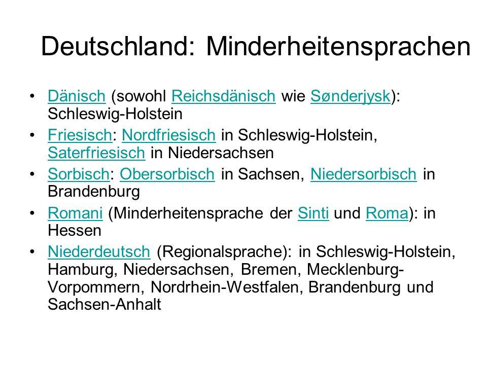 Deutschland: Minderheitensprachen