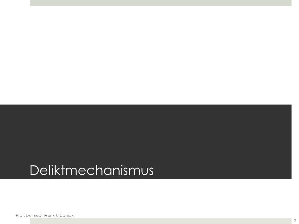 Deliktmechanismus Prof. Dr. med. Frank Urbaniok