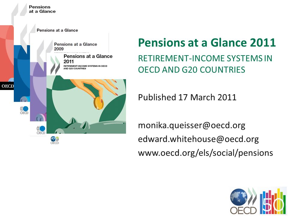 Pensions at a Glance 2011 RETIREMENT-INCOME SYSTEMS IN OECD AND G20 COUNTRIES. Published 17 March 2011.
