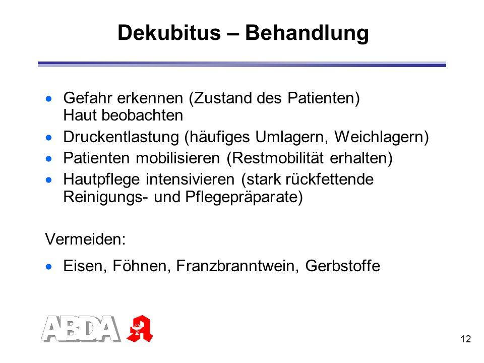 Dekubitus – Behandlung
