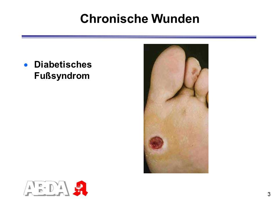 Chronische Wunden Diabetisches Fußsyndrom